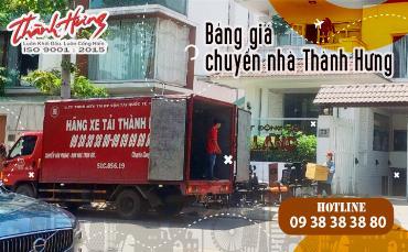 Bảng giá chuyển nhà Thành Hưng