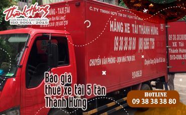 Báo giá thuê xe tải 5 tấn Thành Hưng