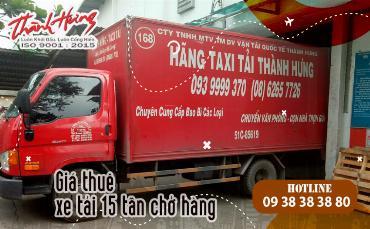 Giá thuê xe tải 15 tấn chở hàng